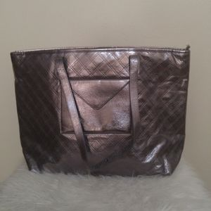 Bath & Body Works quilted look silver/pewter tote